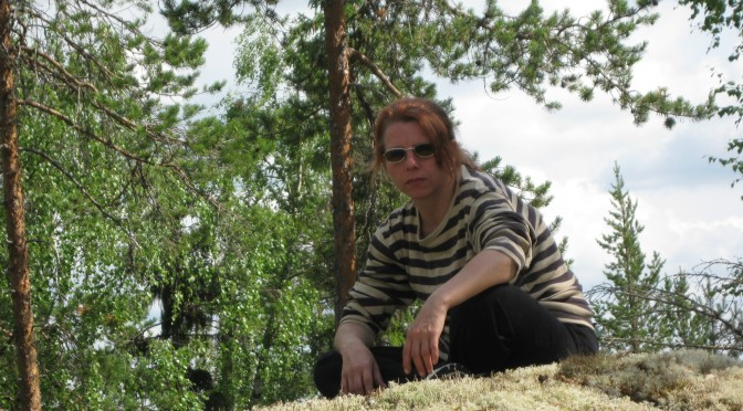 JennyK just taking a moment in Swedish forest summer of 2013.